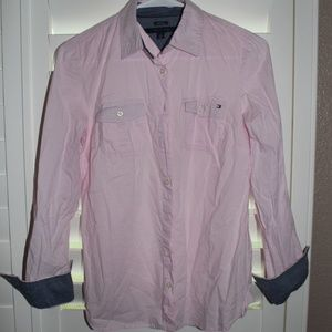 Top Tommy Hilfiger pink blouse
